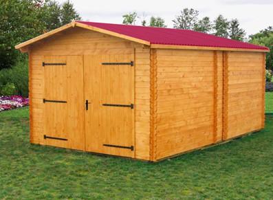 Un garage bois naturel que vous peindre pour le personnaliser