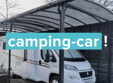 Abri camping-car ou caravane avec toit berceau : protégez votre véhicule de loisirs