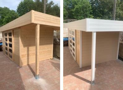 Abri De Jardin Bois Avec Auvent Un Petit Coup De Peinture Blog Conseil Abri Jardin Garage Carport Bons Plans