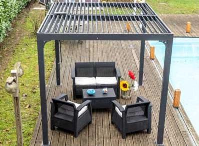 Installation d'une pergola en aluminium… et bioclimatique !