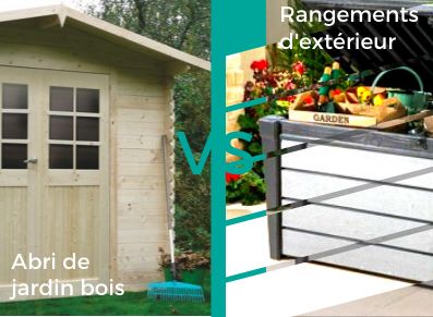 abri jardin en bois ou coffre en résine ou métal ?