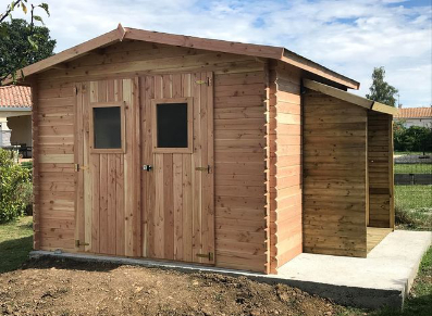 cabane bois de rangement