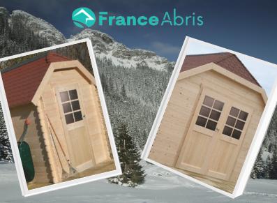 Un chalet en madriers et un abri potager… à forte pente de toit : bienvenue en altitude !