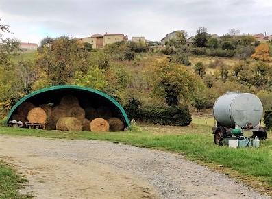 Tunnel de stockage agricole en bâche PVC