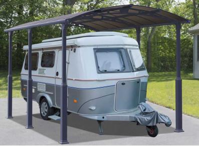 Focus carport : un abri camping-car en alu avec poteaux ajustables