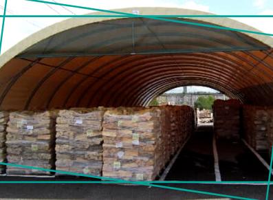 tunnel bois de chauffage