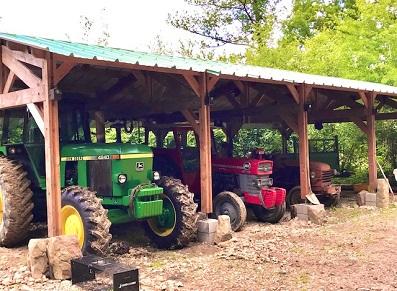 hangar en bois agricole