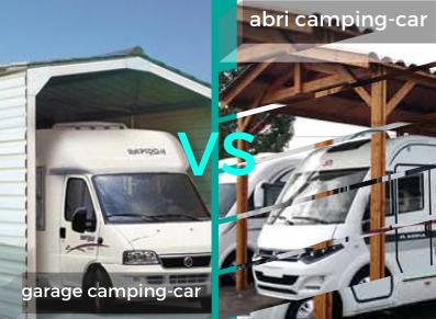 LE MATCH : abri camping-car VS garage camping-car