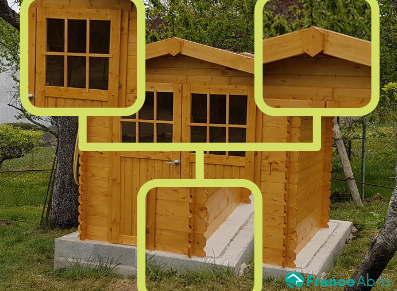 abri de jardin de moins de 5 m² en bois