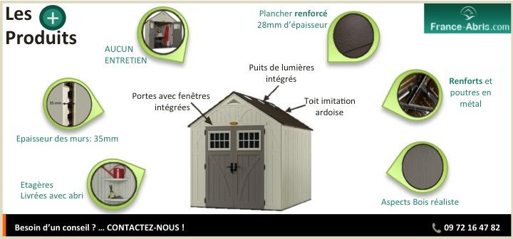 Abri De Jardin En Rsine Moderne Avec Plancher Inclus