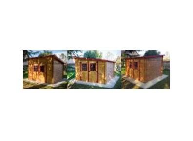 abri jardin bois madrier à toit monopente orientable