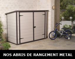 Abri jardin m tal bois pvc motos et v los pour for Abri de jardin resine 5m2