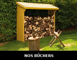 Bûcher pour protéger son bois de stockage