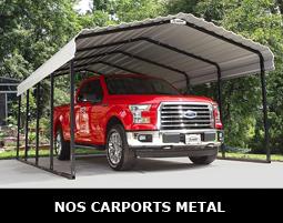 Carport métallique avec toit simple ou double pente