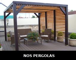 Pergola et tonnelle de jardin à toit plat ou double pente