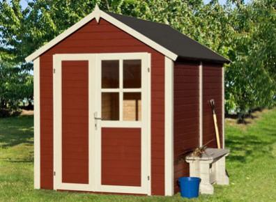 abris de jardin en bois peint promo france abris. Black Bedroom Furniture Sets. Home Design Ideas