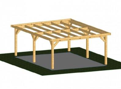 ossature toit plat avec pignon de 3 m en bois douglas pour. Black Bedroom Furniture Sets. Home Design Ideas
