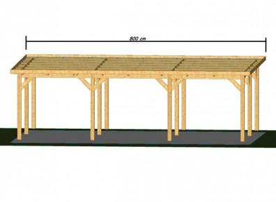 ossature en bois douglas avec toit plat pour faire un. Black Bedroom Furniture Sets. Home Design Ideas