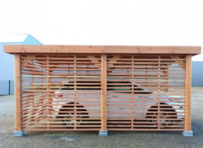 ossature en bois douglas pour charpente de carport et d 39 abris terrasse france abris. Black Bedroom Furniture Sets. Home Design Ideas