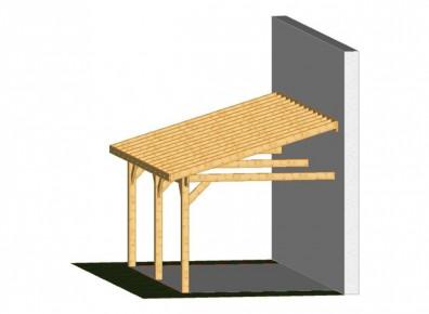 Ossature en bois pas cher livr e en kit pour un carport - Jeux de voiture a garer dans un garage de maison ...