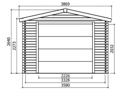 des garages bois en kit avec porte motoris e le tout prix r duit france abris. Black Bedroom Furniture Sets. Home Design Ideas