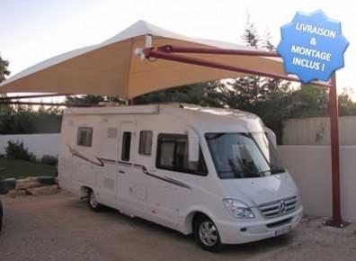 abri camping car en m tal et toile carport livr et. Black Bedroom Furniture Sets. Home Design Ideas