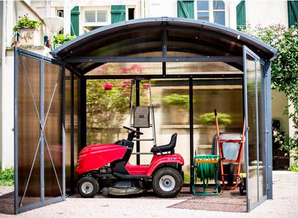Abri de jardin alu dédié à un espace de rangement et stockage