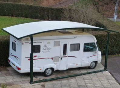 abri camping car en m tal et toile carport livr et install france abris. Black Bedroom Furniture Sets. Home Design Ideas