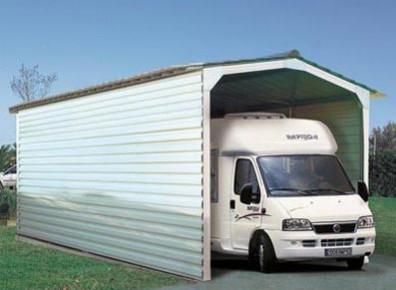Abri camping car en m tal et toile carport livr et install france abris - Garage metallique pas cher ...
