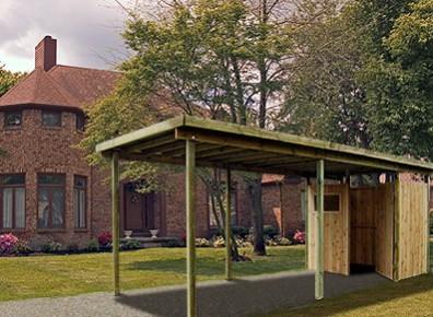 carport bois abris voiture et sur mesure prix promo france abris. Black Bedroom Furniture Sets. Home Design Ideas