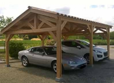 Carport Pour Voiture carport bois : abris voiture et sur-mesure - prix promo - france abris