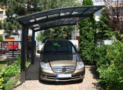 Bel abri de voiture carport simple en aluminium métallique