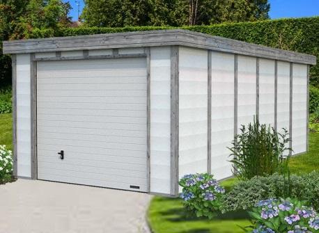 garage en pierre et bois