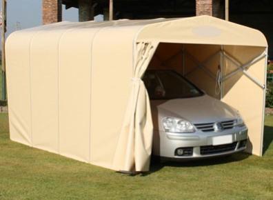 Garage voiture pliant en pvc un abri repliable pour - Garage metallique pour voiture ...
