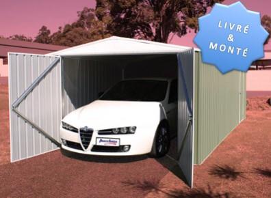 Abri garage en métal marque ABSCO livré monté !