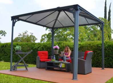 Pergola tonnelle de jardin offrez vous un salon en - Comment monter une tonnelle de jardin ...