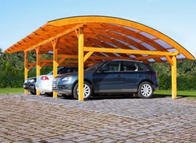 Abri voiture pour 3 véhicules en bois Douglas