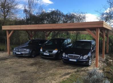 Carport 3 voitures abri triple pour voitures en bois for Car port pl