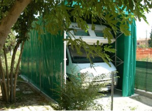 abri camping-car metallique et toile pvc