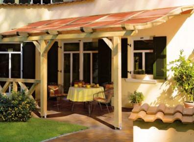 Abri terrasse toit pour terrasses alu ou bois promo for Auvent maison permanent