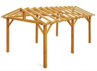 ossature charpente bois toit double pente