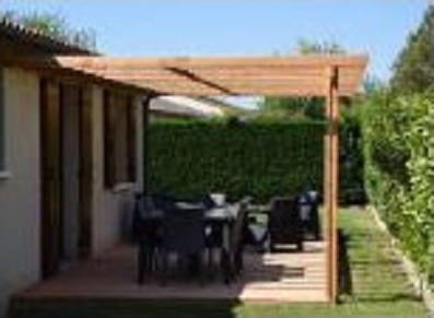 ossature bois toit plat abri terrasse