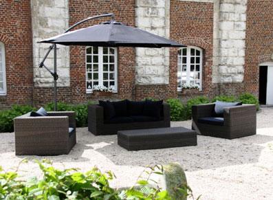 Abri terrasse et mobilier gamme chr caf s h tels for Mobilier de jardin terrasse