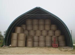 Tunnel de stockage grande capacité avec forme pointue
