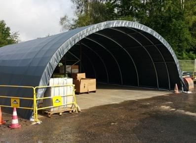 Tunnel de stockage, disponible en dimensions variées (grande hauteur…)