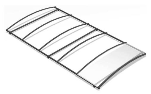 Assemblage des plaques de polycarbonate pour un carport en métal