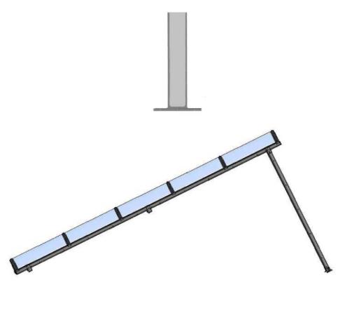 Montage des poteaux autour d'un carport métallique