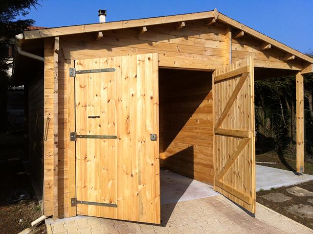 Montage fini d'un garage en bois + atelier