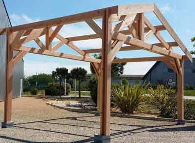 Abri carport en bois Douglas