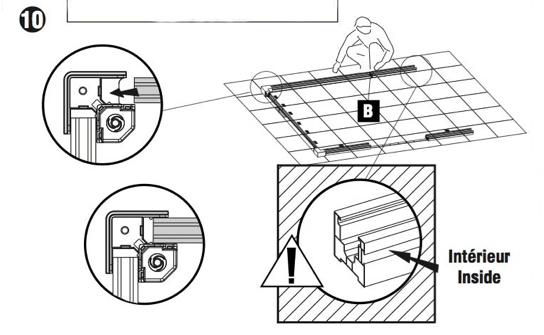 Plan montage cadre de base abri PVC